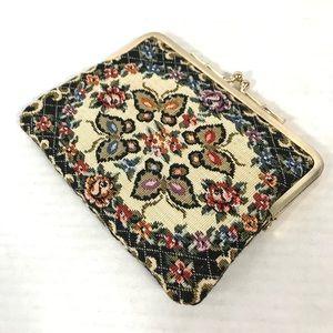 ❤️vintage tapestry wallet clutch